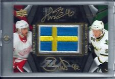 2009-10 UD BLACK PRIDE OF A NATION DUAL AUTO PATCH  ZETTERBERG + BRUNNSTROM /25
