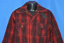 vtg 50s Woolrich 503 Black Red Wool Hunting Check Plaid Winter Jacket Coat Sz 44