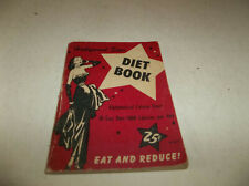 Vtg 1953 Hollywood Star Diet Booklet - 48 pages 10 Day Diet & Calorie Count