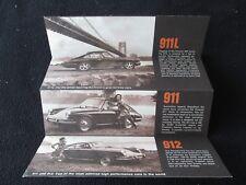 1968 1967 Porsche 911 L 912 911L Sales Brochure Orig US 'Readers Choice' Catalog