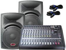 Das PA-SET 15 Powermixer Pa Anlage DJ 2 Wege 30 cm Lautsprecher Boxen USB 2900 W