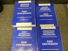 2002 Dodge 1500 Ram Van Wagon Shop Service Repair Manual 3.9L 5.2L Cargo Ext