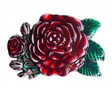 Fibbia Cintura Buckle gürtelschliesse Western Rose Rosso Country Line Dance
