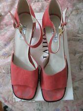 Vintage Women Shoes Size 11 Ankle Strap Open Toe Spiegel Coral Spain