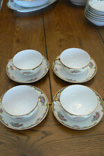 4 Sets Vintage Noritake VASONA Cup & Saucer Gold EXCELLENT CONDITION FREEUSSHIP