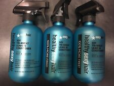 (3) Healthy Sexy hair Soy Tri Wheat Leave in Conditioner 8.5 oz +100% FREE BONUS