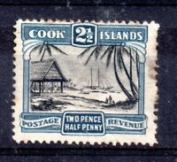 Cook Islands 1932 2 1/2d (no WMK) SG102 fine used WS11989