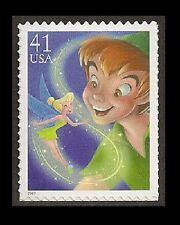 US 4193 Disney Magic Peter Pan and Tinker Bell 41c single MNH 2007