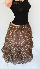 Brown Jaipur Wrap Skirt Gypsy Tribal Fusion Belly Dancel ATS