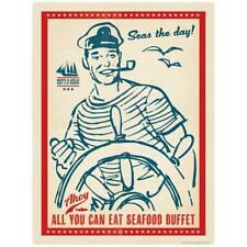 Seafood Buffet Sailor Decal Peel and Stick Decor