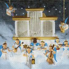 2 Serviettes en papier Anges Orchestre Celeste Decoupage Paper Napkins Heavenly