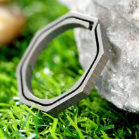 Titanium Alloy Carabiner Hanging Buckle Key Ring Quickdraw Keychain New EDC D4Y6