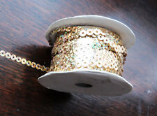 3 metres  String of Gold sequins ,