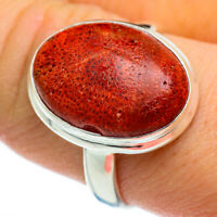 Sponge Coral 925 Sterling Silver Ring Size 9.75 Ana Co Jewelry R46393F