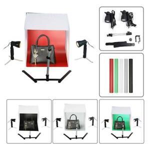 60x60x60cm Fotobox Fotostudio Set Led Lichtbox Faltbare Tischplatte Fotografie