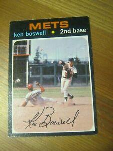 1971 OPC O Pee Chee #492 Ken Boswell - New York Mets.                        ZB1