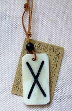 Runen Halskette 11112 mit Leder Rundriemen Germanen Kelten Nordmannen Nordisch