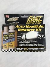 Fast Brite, As Seen on TV, Restore Cloudy and Dim Headlights for Cars/Trucks