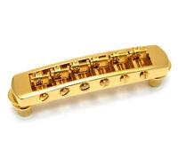 Schaller Gold Roller Tune-O-Matic Bridge for Gibson Les Paul/SG® GB-0590-002