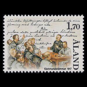 Aland 1987 - Independence Movement Ålandsrorelsen Art - Sc 28 MNH