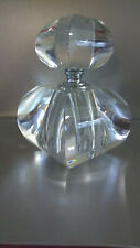 """Beautiful 6.5"""" Tall Glass Amari Curved Square Perfume Bottle Weighs 4.lbs 6.6 oz"""