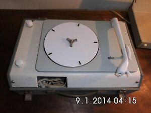 Braun PC 3 Kofferplattenspieler mit Verstärker sehr Rare.