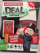 Monopoly Deal Card Game with Shuffle Shaker Hasbro Parker Brothers 2008 NIB NOS