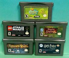 Harry Potter Azkaban Lego Star Wars Spongebob Persia Nintendo Game Boy Advance
