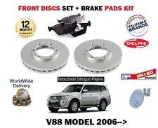 FOR MITSUBISHI SHOGUN V88 3.2 DID 2006->NEW FRONT BRAKE DISCS SET+ DISC PADS KIT