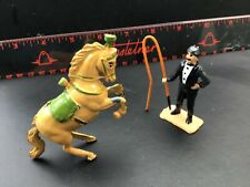Vintage Charbens  Lead Circus.Ring Master And Performing Horse. A1.1/32 Scale