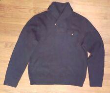 NWT Ralph Lauren Rugby Green Shawl Shetland Wool Sweater Sz XL Cowl Neck Elbow
