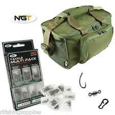NGT pesca carpa VERDE CARRYALL ZAINETTO BAG 537 + 180 PEZZI TERMINALE Set