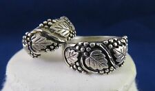 Two Rings_Silver Black Hills Gold_Size 5-3/4 & Size 10-1/2 (744)