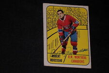 BOBBY ROUSSEAU 1967-68 TOPPS SIGNED AUTOGRAPHED CARD #68 CANADIENS