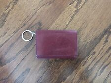 Vintage COACH Red Leather Wallet Key Chain compartment