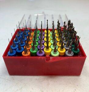 50 Kyocera Tycom PCB CNC Carbide Drill Bits Assortment .0135 to .1405