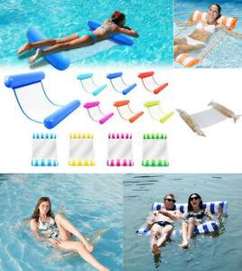 Inflatable Floating Lounge Bed Float Beach Swimming Pool Raft Water Hammock Swim