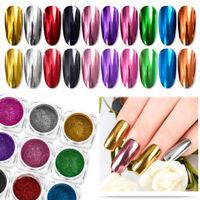 Chameleon Holographic Mirror Effect Nail Art Glitter Powder Chrome Pigment Decor