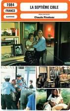 FICHE CINEMA : LA SEPTIEME CIBLE  Ventura,Massari,Poiret 1984 The Seventh Target