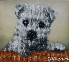 Hund Perlenstickbild Stickbild sticken mit Perlen Preciosa Stickpackung 551