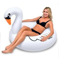 GoFloats Giant Swan PartyTube Inflatable Raft, Float In Style ADULT SIZE