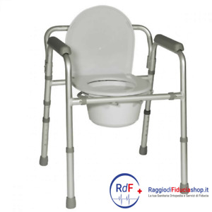 Sedia comoda pieghevole per wc/doccia in alluminio, Termigea BA31