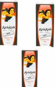 3x 100ml Kala Kola Hair Tonic Oil For Grey Hair And Natural Colour