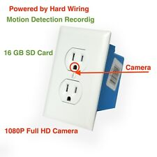 1080P Full HD Hidden AC Wall Outlet Plug Spy Camera DVR DV Powered Hard Wiring