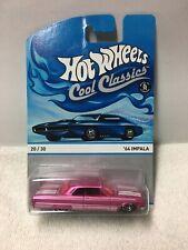 Hot Wheels Cool Classics 64 Impala (20/30) - Pink W/Blue Card