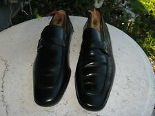 Magnanni black Leather loafers shoes Men's Size 9.5 M very nice!