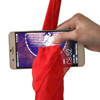 Magic Red Silk Thru Phone by Close-Up Funny Street Magic Game Trick Show Prop