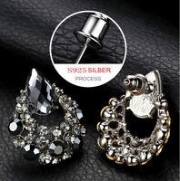 925 Sterling Silber Ohrringe Creolen Ohrstecker Geschenk für Damen Weihnachten