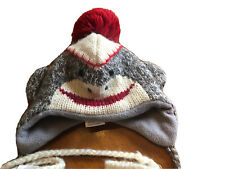 Sundance Catalog Kids Sock Monkey Hat and Mitten Set warm and adorable