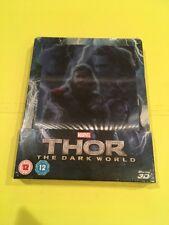 Thor The Dark World STEELBOOK Blu Ray UK Lenticular Magnet Zavvi VERY RARE!!